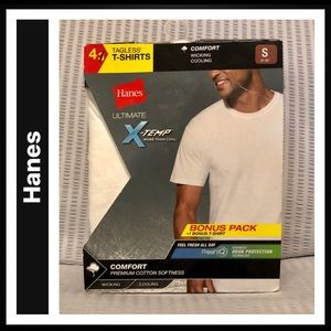 Hanes 4-pack Tagless Crew Neck T-shirts